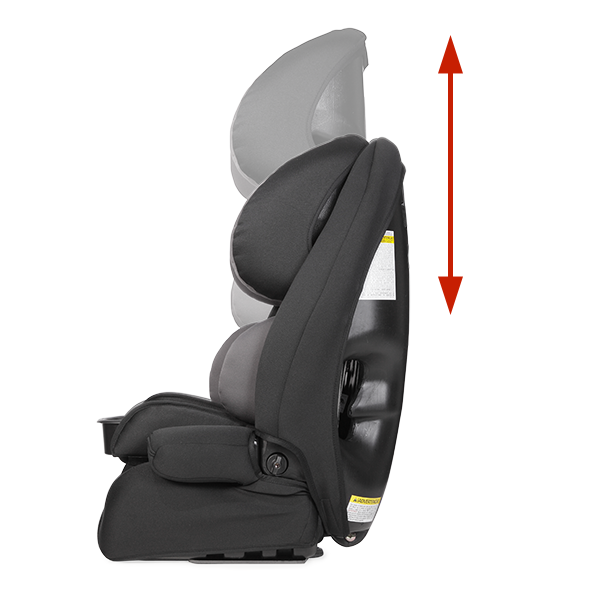 9-position, 1-hand height adjustable headrest