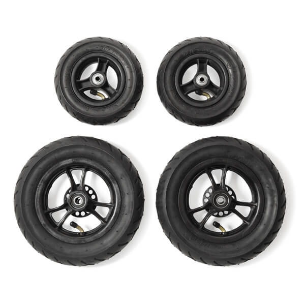 Pneumatic wheels, full set